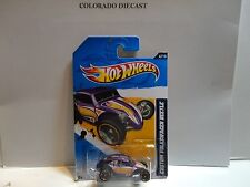 2012 Hot Wheels #76 Purple Custom Volkswagen Beetle w/5 Spoke Wheels