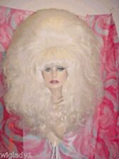 **WIG WIGS DRAG QUEEN THEATRE PARTY FUN LONG WAVY WHITE