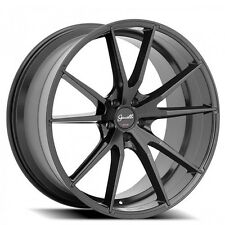 "4pcs 20"" Staggered Giovanna-Gianelle Wheels Davalu Black Rims"