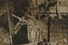 1918 WWI Deep Trench, Sign Reminds Soldiers of Gasmask B&W Photograph 3.5 x 2.5""