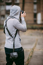 LEATHER DUAL DSLR CAMERA STRAP HARNESS