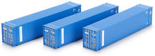Athearn HO Scale 45ft Shipping Containers Seaboard Marine (Blue) 3-Pack
