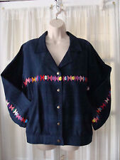 handwoven and made in Guatemala womens M denim jacket