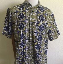 Vtg Mens BANANA REPUBLIC SAFARI & TRAVEL Hawaiian Batik Style Shirt Size Medium