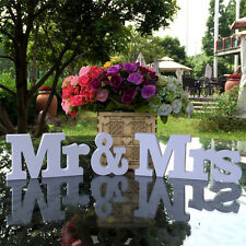 WEDDING LETTERS White Wooden Mr & Mrs Mr AND Mrs Letters Sign Gift Decorations