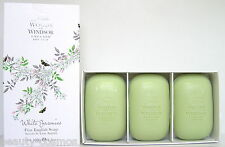 Woods of Windsor White Jasmine 3x100g perfumed Soap/Seife NeuOVP