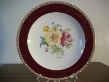Antique,1900's CROWN DUCAL hand painted plate and Signed by artist H. E. HAGUE