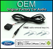 Ford Focus AUX lead, Ford Sony car stereo AUX in cable iPod iPhone Android