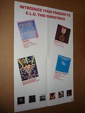 ELO 1980 Jet Records UK Shop Christmas Gift Display Poster