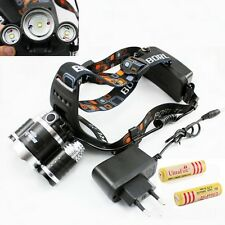 5000LM CREE XML 3x T6 LED Headlight Light Lamp Flashlight+ Battery Charger in UK