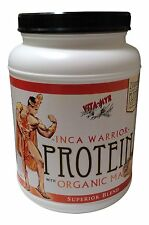 INCA WARRIOR PROTEIN Powder with Organic Maca 2 Lb Jar 21g Natural Body Building