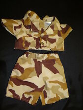 Build A Bear Workshop BABW Brown Camo Camouflage Military Army Fatigues Outfit