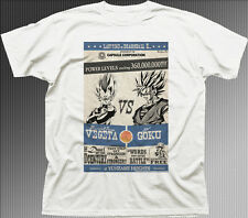 DBZ DRAGONBALL Z VEGETA vs GOKU anime manga white cotton printed t-shirt 9930