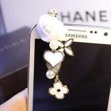 Rose&Heart Anti Dust Plug for iPhone,4s,Galaxys3,s4&3.5mm Earphone Stopper Cap W