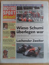 MOTOR SPORT aktuell 1-7.7. 28 - 1997 Motorrad GP Schumacher Winkelhook Biaggi