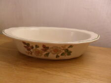 MARKS AND SPENCER AUTUMN LEAVES FLUTED PIE DISH