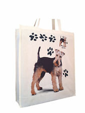 Welsh Terrier Cotton Shopping Bag with Gusset for Xtra Space Perfect Gift