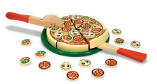 PIZZA PARTY WOODEN PLAY FOOD TOY  # 167 ~ Melissa & and Doug