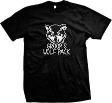 Grooms Wolf Pack Bachelor Party Rehersal Dinner Funny Humor Mens T-shirt