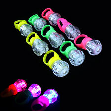 10PCS LED Finger Lights Party Laser Finger Light Up Beam Torch Glow Ring