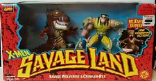 X-Men  Savage Land/SAVAGE WOLVERINE & CRAWLER REX  DINO JAW CHOMPING ACTION 1997