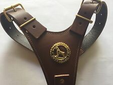 Brown Rottweiler Leather Harness - BRAND NEW TOP QUALITY LEATHER