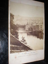 Cdv old photograph Llangollen from the bridge by Francis Bedford c1860s