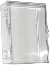 Lot of (10) ~ 55ct Card Hinged Clear Plastic Boxes Holders For Trading Cards