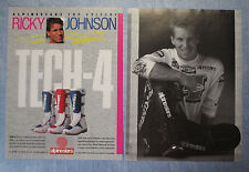 MOTOSPRINT989-PUBBLICITA'/ADVERTISING-1989- ALPINESTARS TECH-4 (R.JOHNSON-A)