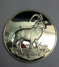 Vintage 2 Troy Ounce Sterling Silver Collectible Bullion Round SABLE ANTELOPES