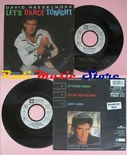 LP 45 7'' DAVID HASSELHOFF Let's dance tonight One and one make three cd mc dvd