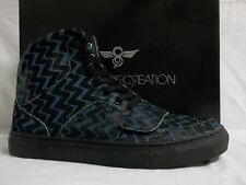Creative Recreation 8 M Cesario Black Leather Fashion Sneakers New Mens Shoes