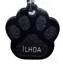 Médaille en aluminium gravée pour chien ou chat PATTE NOIRE RECTO VERSO