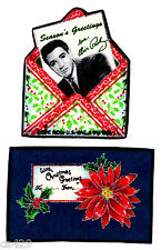 """3.5"""" ELVIS PRESLEY KING ROCK N ROLL CHRISTMAS HOLIDAY FABRIC APPLIQUE IRON ON"""
