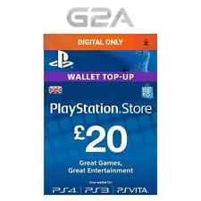 Playstation Network £20 Pounds - 20 GBP Store Card Key / PS4 PS3 PSP PSN – UK