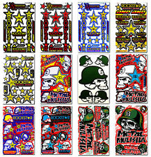 Rockstar Energy Metal Mulisha Stickers Bike BMX MTB Helmet Graphics Kits Decals