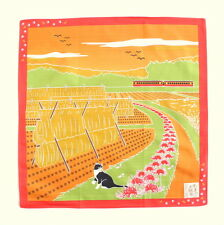 Harvest with Cat Japanese Cotton Furoshiki Wrapping Cloth  TB73
