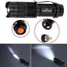 1x LED Cree Q5 sehr helle Leuchtweite Taschenlampe Lampe Power