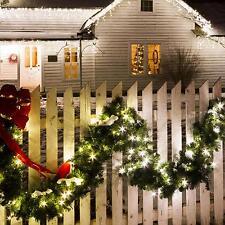 XXL Tannen Girlande Beleuchtet mit 180 LED Lichter Grün Außen Innen Forsthaus
