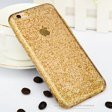 Luxury Bling Glitter Crystal Clear Soft Gel Back Case Cover for iPhone 6 6s Plus