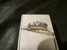 Beautiful Art Deco 18ct Gold, Plat & 0.50ct Five Stone Diamond Ring