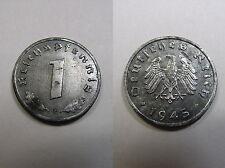 3. Reich , 1  Reichspfennig 1945 F  ST , Jäger 373 b , # 205