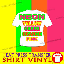 "4 roll 12""x5ft  NEON GREEN, YELLOW, ORANGE, HOT PINK  Heat Press T-shirt vinyl"