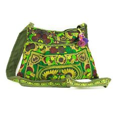 Lime Hill Tribe Purse Crossbody Bag Thai Hmong Embroidered Hobo Hippie Boho