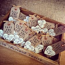Personalised Save The Date  Wedding Magnet Handmade Rustic Tags With Clay