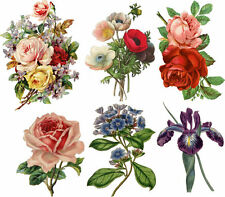 SHIP FROM NY- Set of 6 Vintage Floral Temporary Tattoo