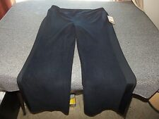 NWT COLDWATER CREEK Microfleece Black Pants L Large 14 - 16 X 32 $50 NEW