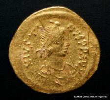 Ancient Byzantine Gold Coin Semissis! Justinus I. 518-527 Ad! Nice !