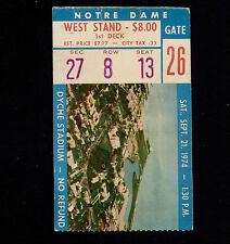 9-21-1974 Notre Dame at Northwestern Dyche Stadium Ticket Stub 49-3