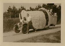 PHOTO ANCIENNE - VINTAGE SNAPSHOT - CARANTEC FÊTE FLEURS DÉFILÉ FOLKLORE 1936  7